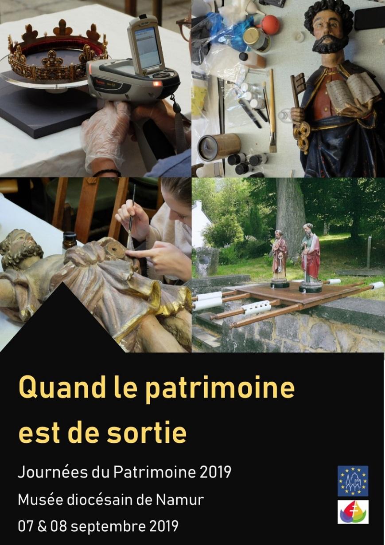 Affiche des journées du patrimoine 2019 − Musée diocésain de Namur