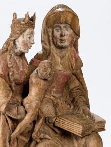 Sainte Anne trinitaire, sculpture provenant de la chapelle de Failon