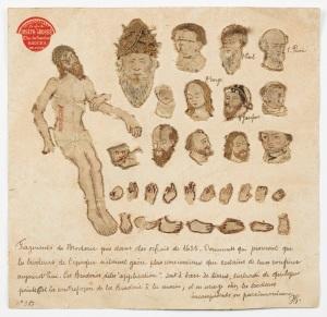 Carton de l'atelier Grossé, vers 1900.